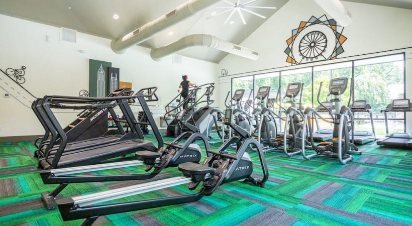 Apartment gym at Cantera by Cortland in Chamblee, GA