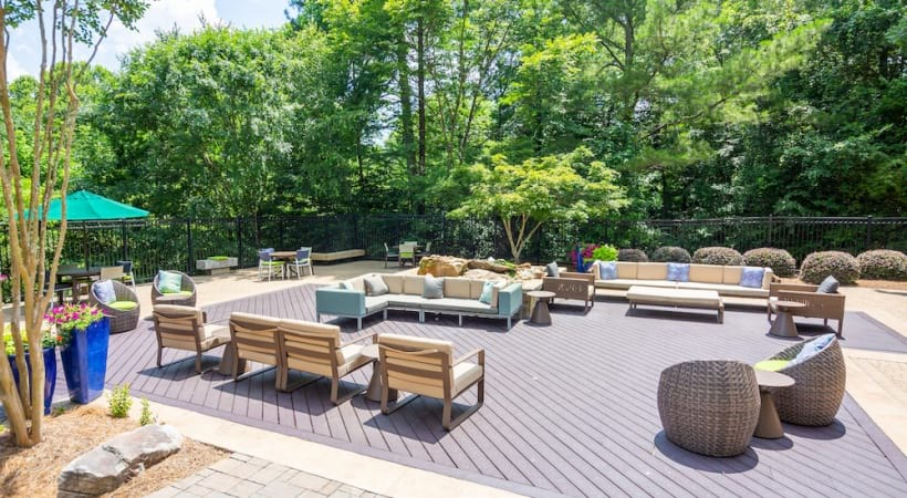 Outdoor lounge at our Chamblee, GA apartments