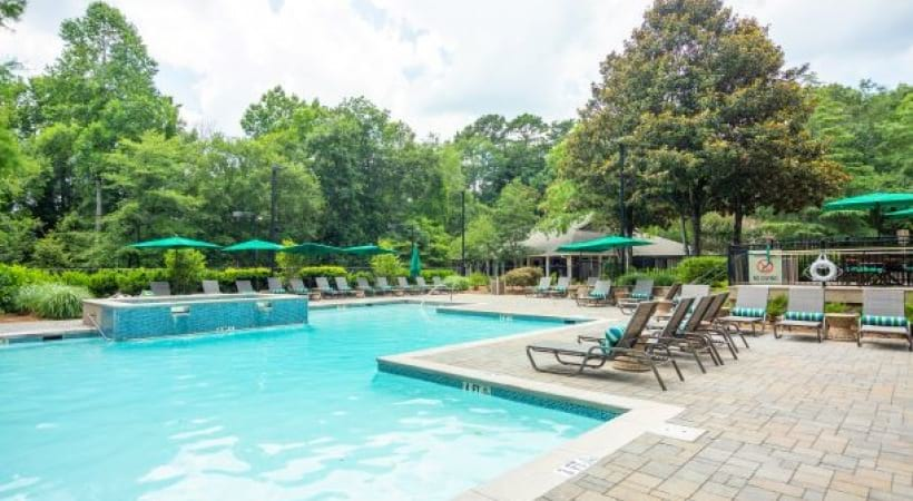 Resort-style pool at our Embry Hills apartments
