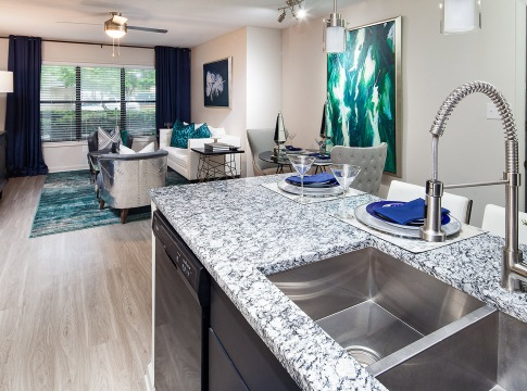 Kitchen with Granite Countertops in Our Spacious Apartments