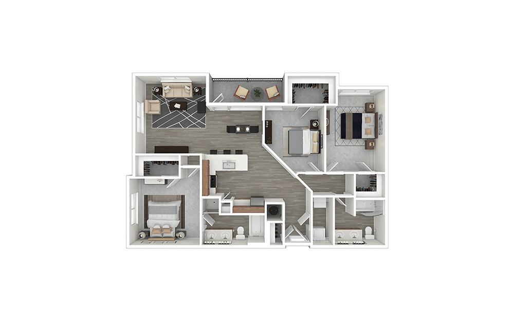 The Watters Furnished Rendering | Allen Station