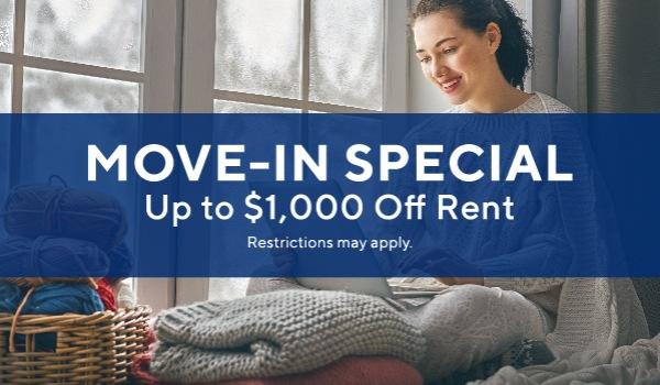 $1000 off 1 bedrooms