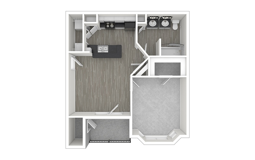 Autry Unfurnished Rendering | Copper Springs