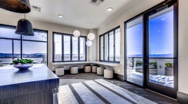 Lone Tree apartments resident clubhouse with scenic mountain views