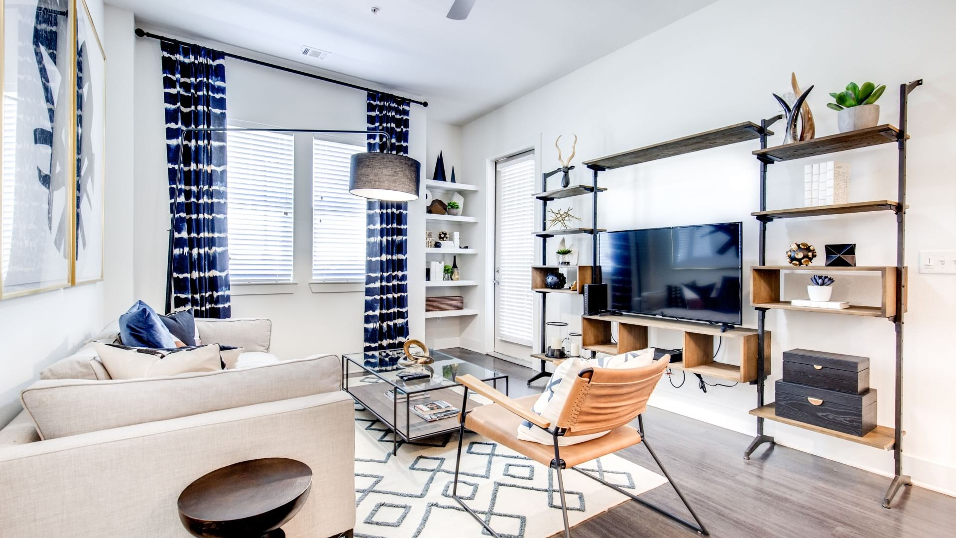Stylish Living Room at Our Lone Tree Apartments