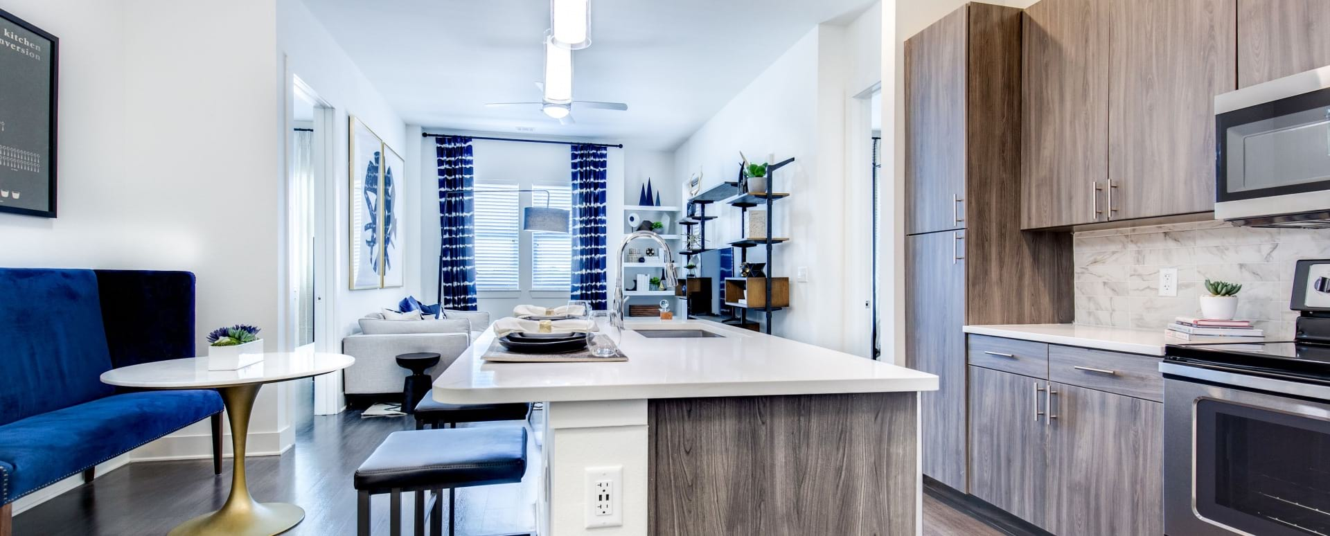 Luxury Apartment Kitchen at Our Lone Tree Apartments For Rent