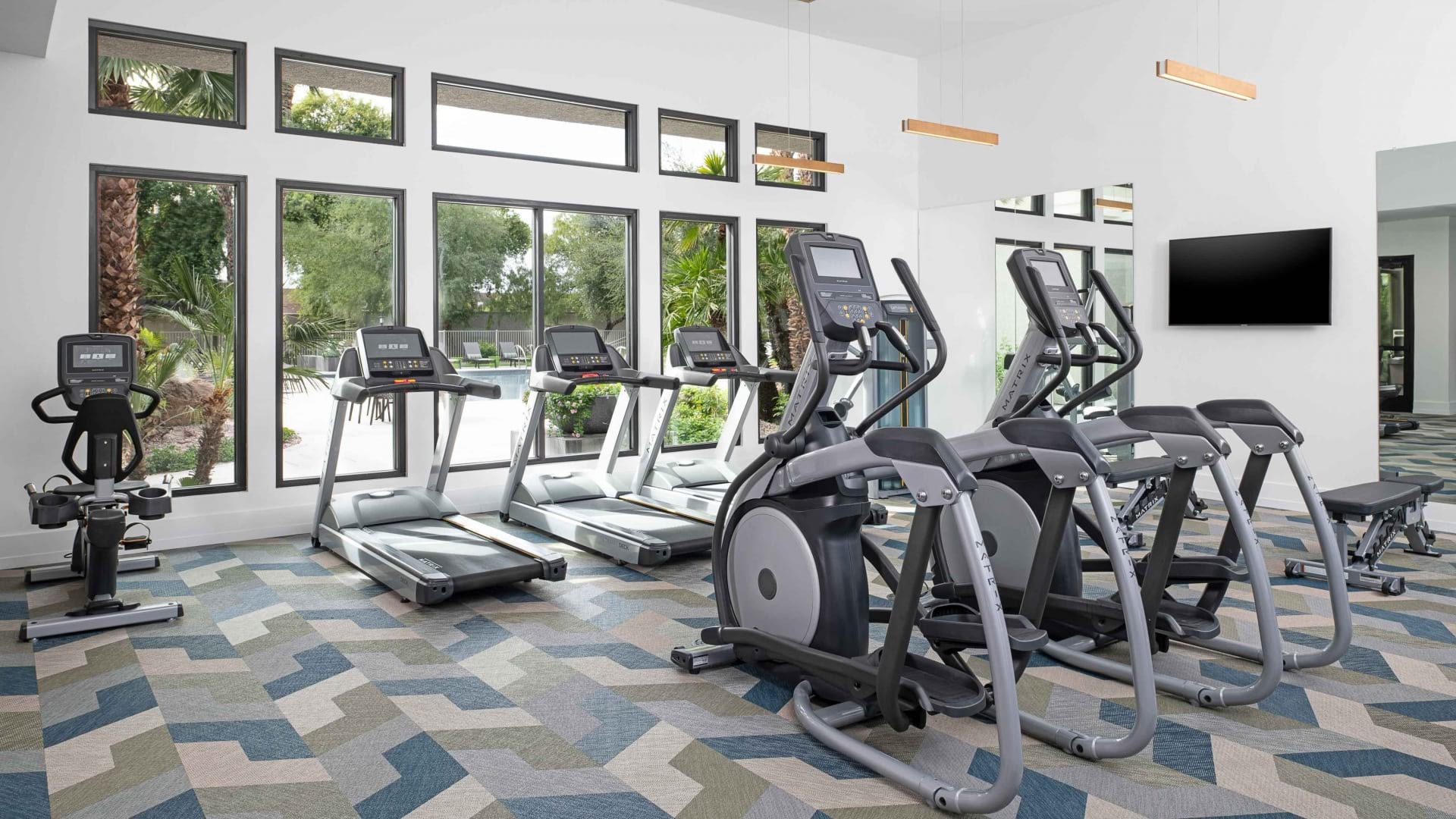 Newly Renovated Fitness Center and Spin Studio