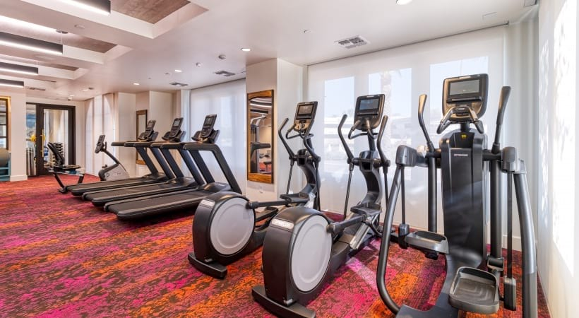 24/7 gym at our new luxury apartments in Phoenix, AZ