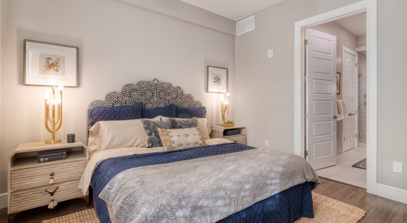 Spacious Bedrooms with Ceiling Fans at Cortland Biltmore Apartments