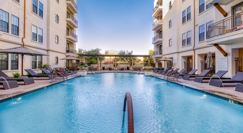 Our Paradise Valley apartment pool with sun deck