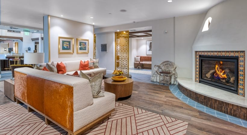 Our Camelback apartment clubhouse with private library