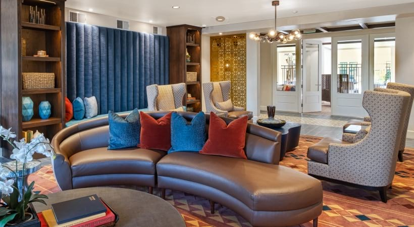Our Paradise Valley apartment clubhouse with lounge seating