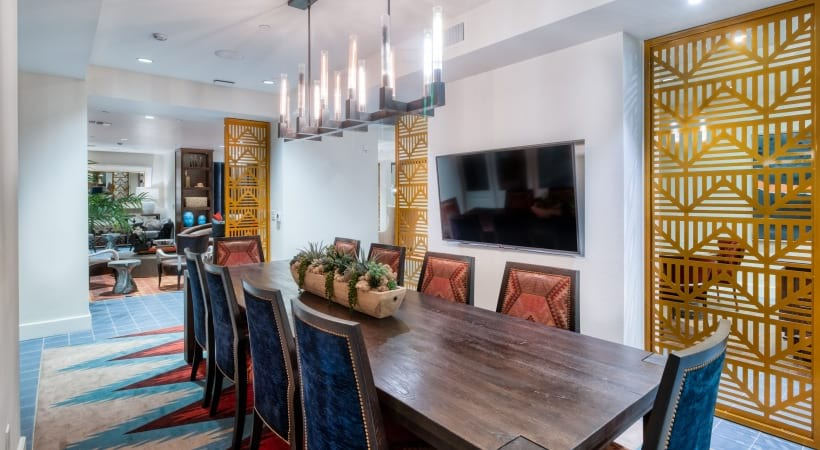Resident clubhouse with HDTV at our modern apartments in Biltmore