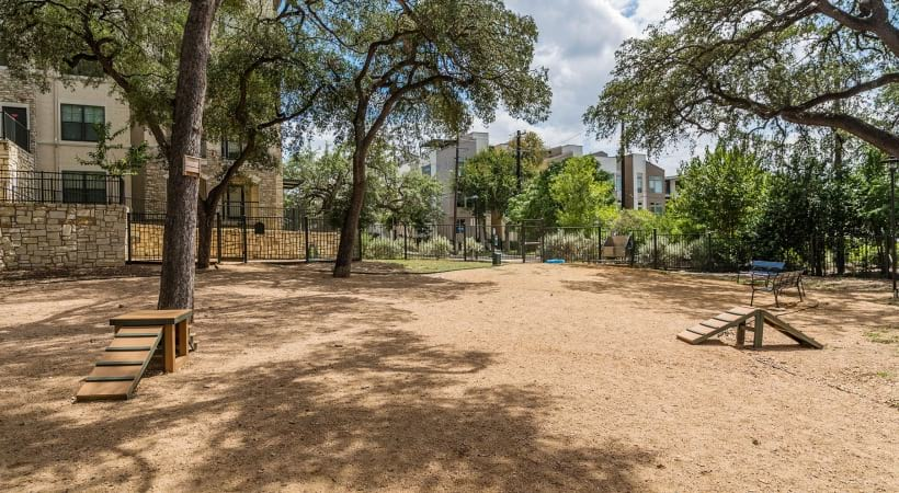 Leash-Free Bark Park at our Westfort apartments in San Antonio