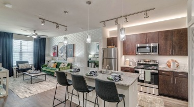 Modern apartment kitchen at our Westfort Broadway apartments