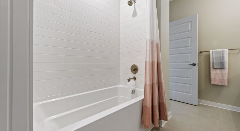 Our Durham apartments with deep-soaking bathtubs