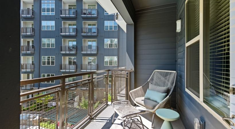Our Downtown Durham apartments with personal balconies