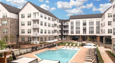 Two resort-style pools at Cortland Cary Apartments for Rent