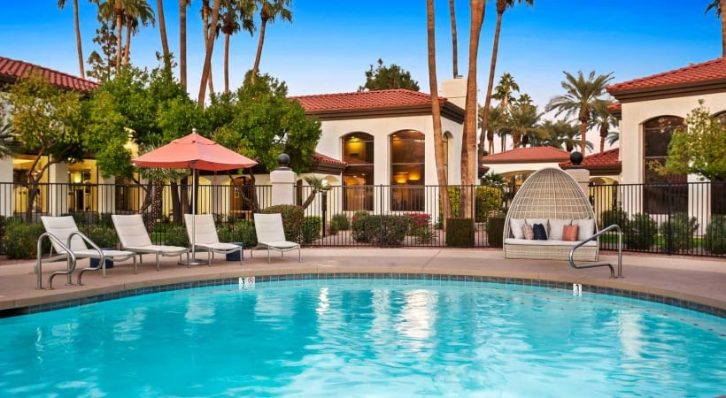 Resort-style pool at our upscale apartments in 85226