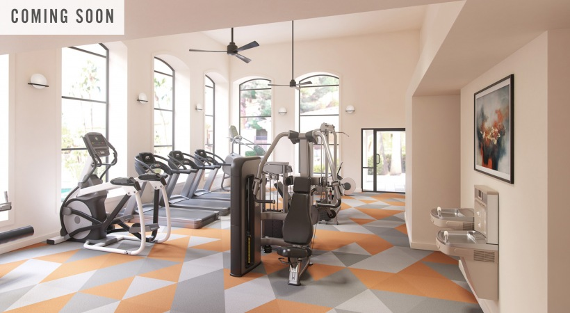 Updated fitness equipment at our Chandler apartment gym