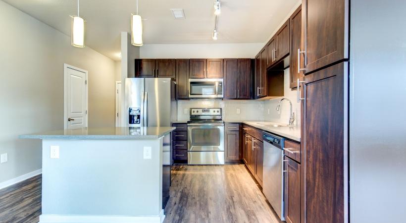 Renovated Kitchen with Designer Tile Backsplash