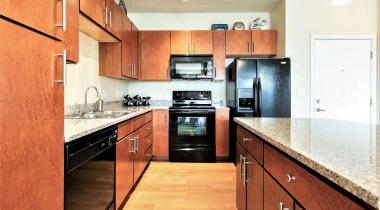 Spacious Kitchens with Granite Countertops