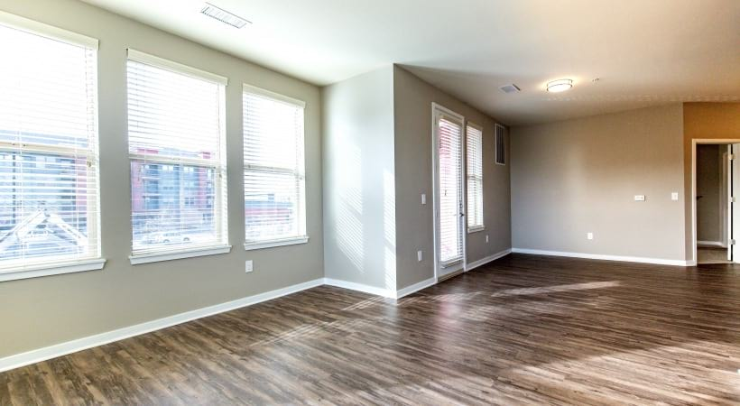 Renovated Living Room with Wood-Style Flooring