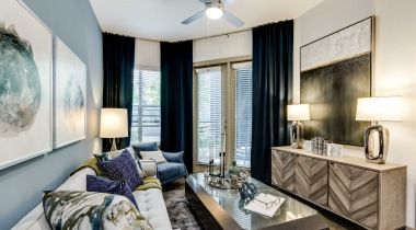 Luxury apartment floor plan at Cortland Galleria