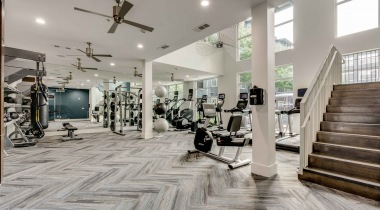 Cardio machines at apartments in Farmers Branch