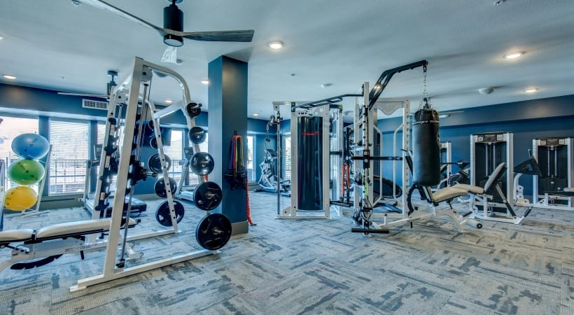 Fitness Center at Our Grand River Apartments