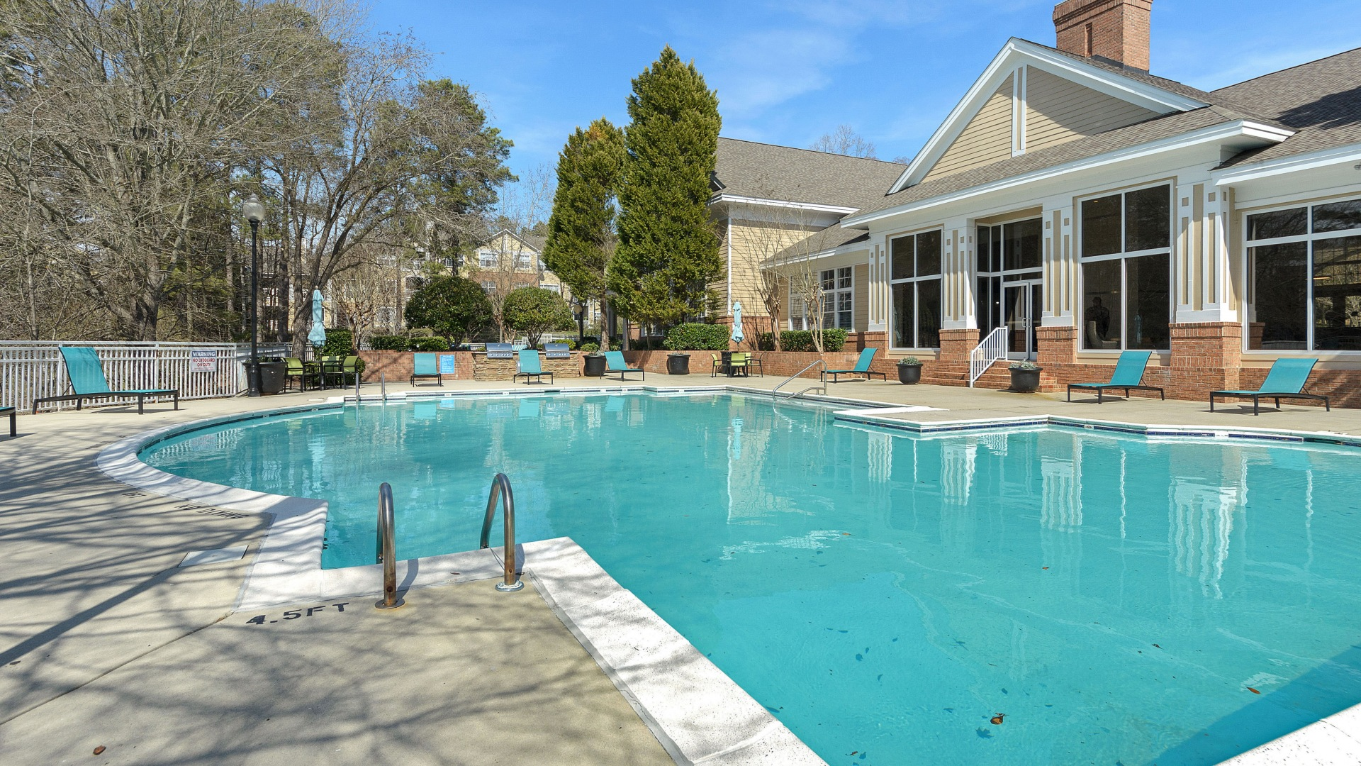 Resort-Style Pool And Sun Deck at Our Luxury Apartments Near RDU Airport