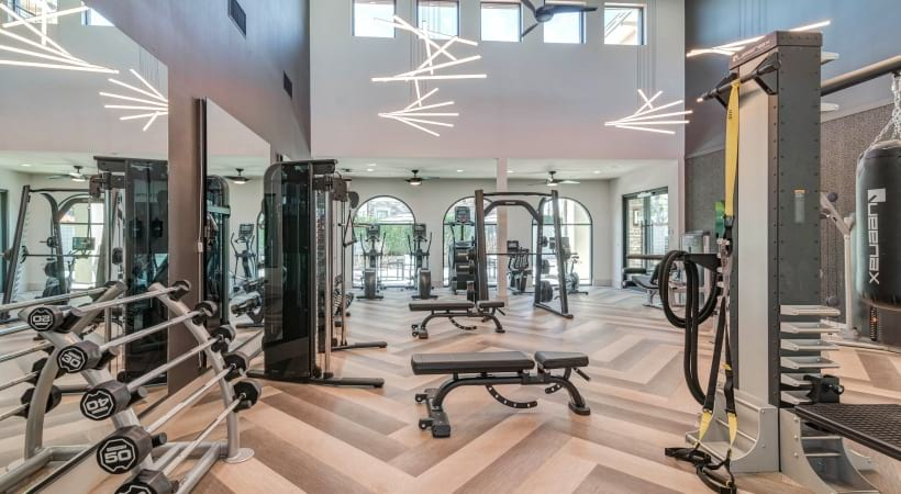 Our upscale Irving apartment gym