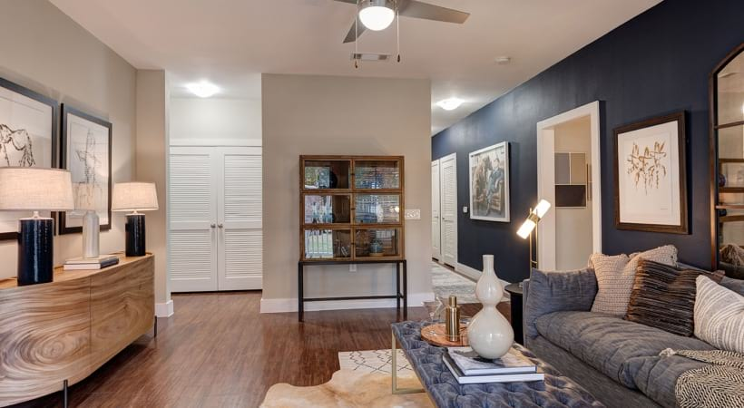 One Bedroom living room at Apartments for Rent in League City