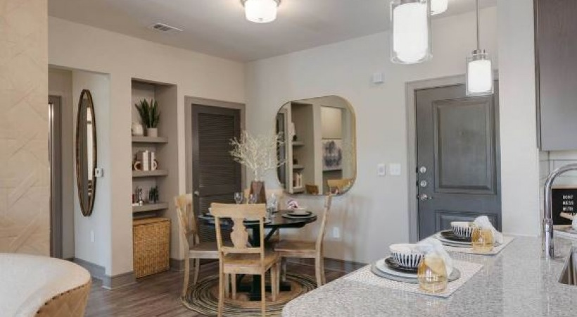 Spacious apartment floor plan at Cortland Luxe Shadow Creek