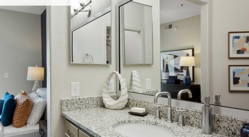 Renovated Bathroom with Granite Countertops*
