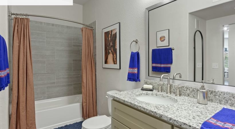 Renovated Bathroom with Tile Surround*