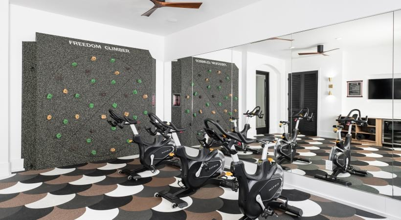 Apartments in Mesa, AZ with spin studio and rock climbing wall