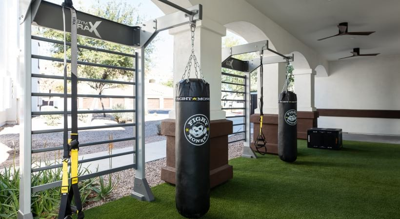 Brand new fitness center at apartments in Mesa, AZ