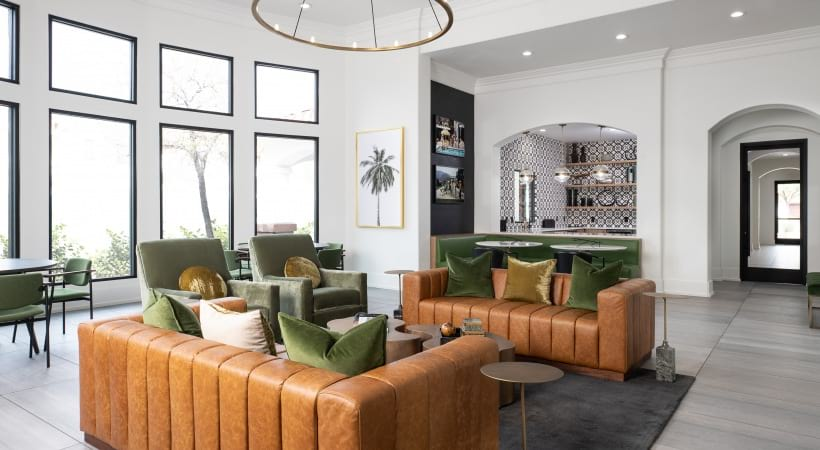 Luxury apartment clubhouse at apartments in Mesa, AZ