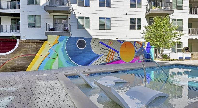 Cortland NoDa apartment pool art
