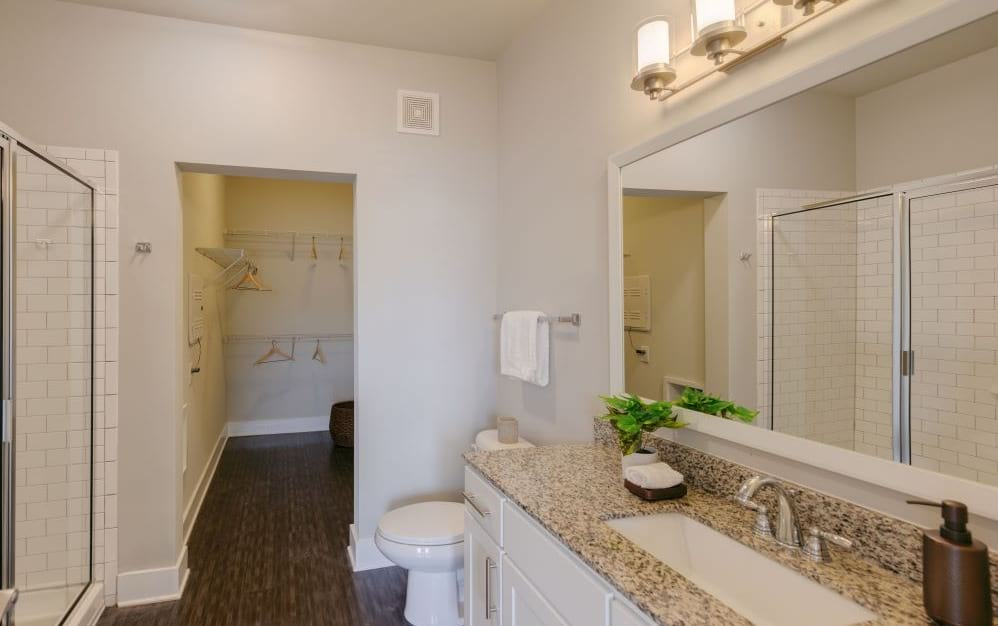 Large Bathrooms and Walk-in Closet