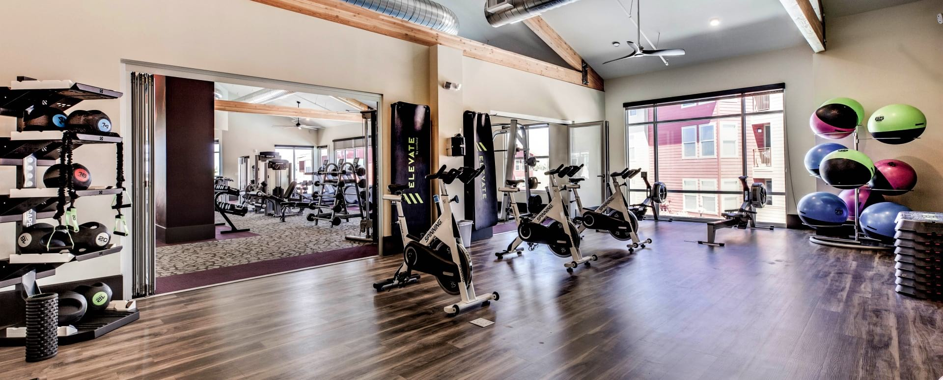 Our Colorado Springs apartment gym with spin studio