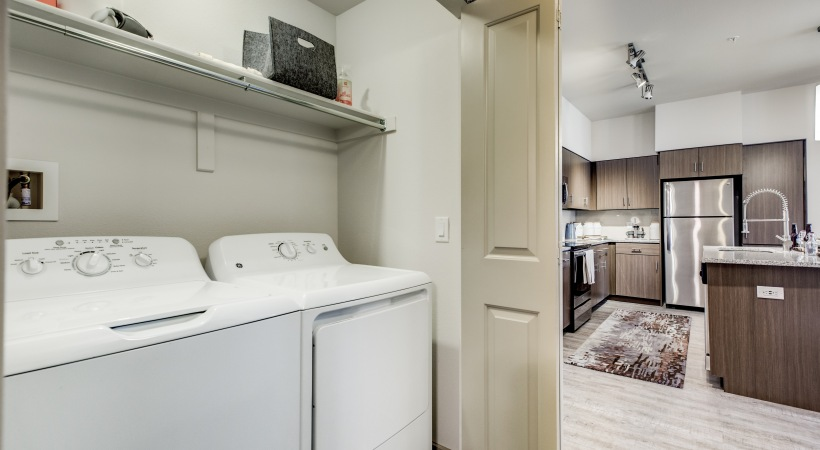 Washer & dryer sets in every unit at our luxury apartments - Colorado Springs