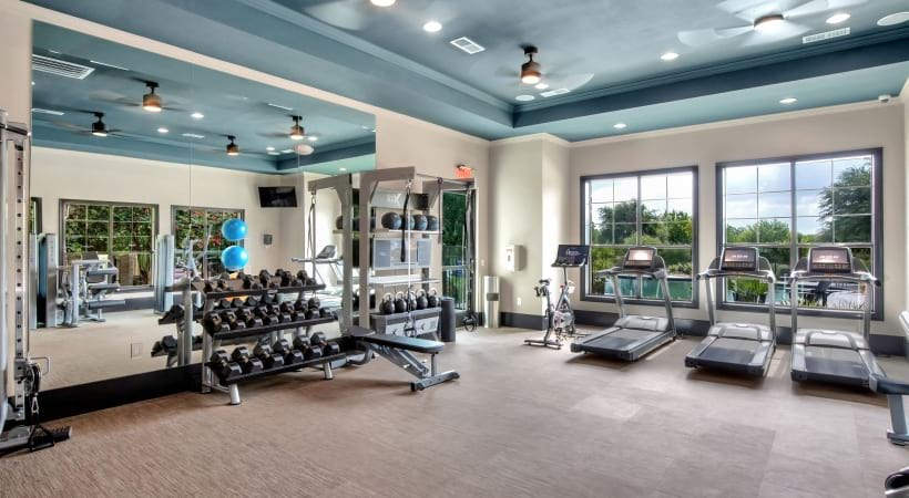 Fitness Center at apartments in South Austin, TX