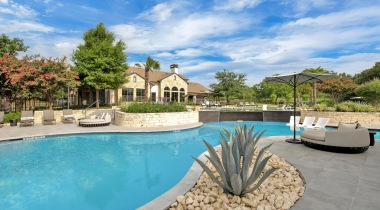 Our South Austin apartment complex with pool