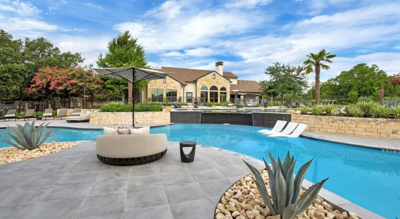Resort style pool at Cortland Southpark Terraces