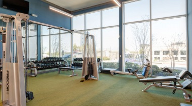 Fitness center at luxury apartments in San Antonio, TX