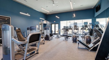 Fitness center at apartments in Cibolo Canyons