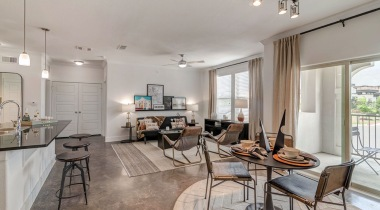 Luxury living areas at apartments in San Antonio, TX