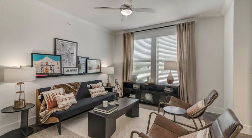 Spacious apartment floor plan at Cortland View at TPC